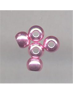 Brass Beads - Light Pink - metalic