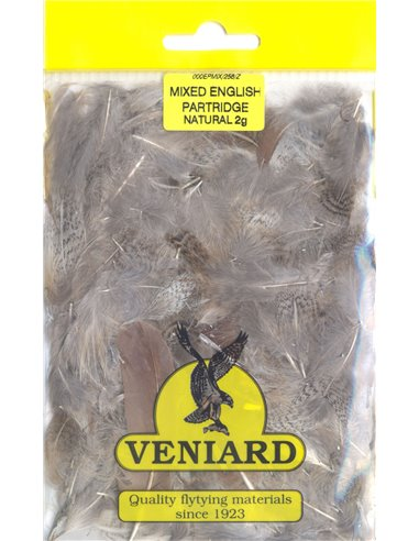 Partridge feathers - Natural mix, 2g