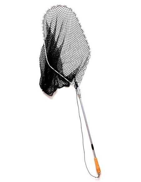 Folding landing net head with magnetic holder