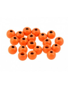 Brass Beads - Orange Fluo