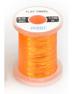 Flat Tinsel, Pearl Fluo Orange