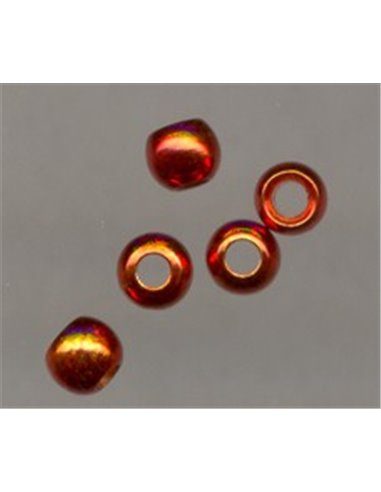 Brass Beads Special - Orange-red