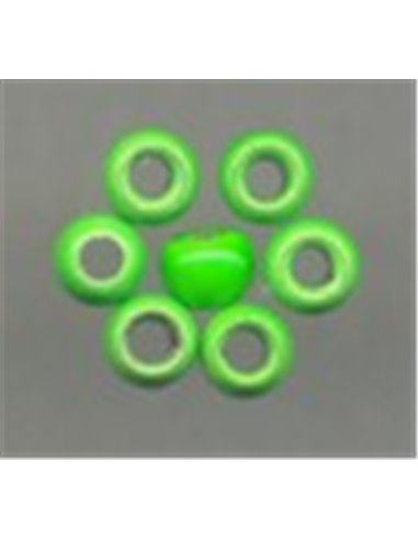 Brass Beads - Green Fluo 2,8 mm