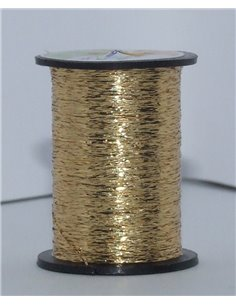 Ribbed Gold Tinsel +fiber monofil
