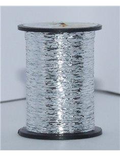 Ribbed Silver Tinsel +fiber monofil